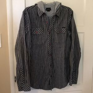 NWOT - Men's Hooded Button Up - Size M
